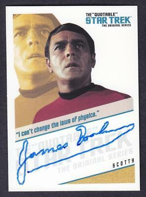 "Star Trek Quotable Tos Autograph  James Doohan As Scotty Qa7 ""i Can't..."