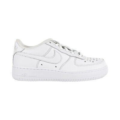 NIKE AIR FORCE 1 QS Soft Leather GS Big Kids' Shoes White