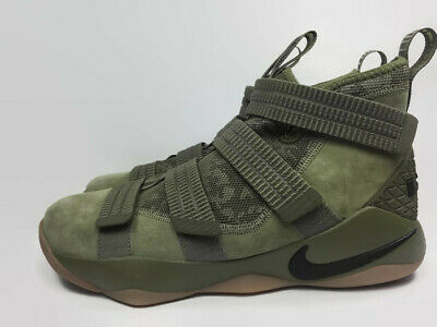 cd0f078864bd Nike LeBron Soldier XI 11 SFG Green Camo Size 11 Mens Olive Black 897646-200