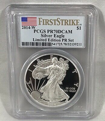 2014-W $1 Silver Eagle PCGS PR70DCAM FIRST STRIKE - Limited Edition PR Set
