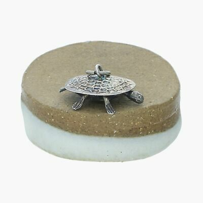 antique / sterling silver vintage 3d articulated turtle (moves) / charm (1g)