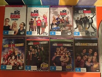 The Big Bang Theory Complete DVD Series 1 2 3 4 5 6 7 8