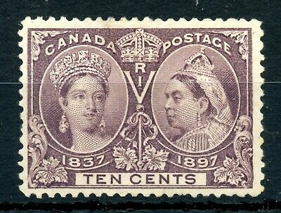 Weeda Canada 57 F/VF unused 10c brown violet QV 1897 Jubilee issue CV $162.50