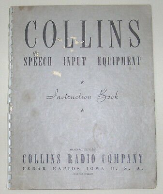 Collins Radio Type 7R Tube Amplifier - Instruction Book