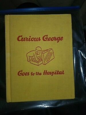 Curious George Goes to the Hospital 1966 Rare Childrens Book
