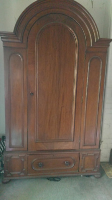 Antique wardrobe - possibly walnut