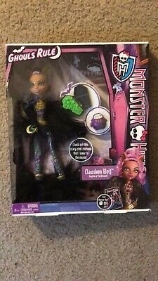 "Monster High Dolls Ghouls Rule  Clawdeen Wolf ""Daughter of The Werewolf) Doll"