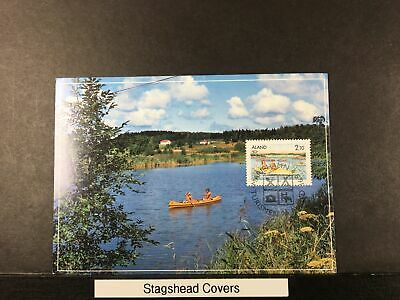 Aland Maxi Card 4 Jun 1991 Boat Tourism House Spoons Bed  Cancel
