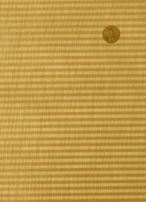 Antique Radio SPEAKER FABRIC Vintage Grill Cloth Repair - #25 - Gold Striped