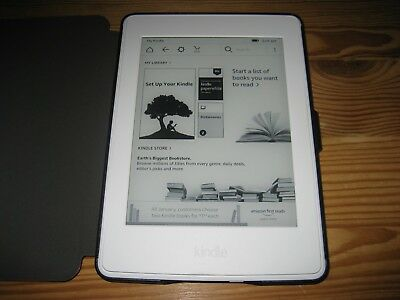 info for b6814 9d2dc AMAZON WHITE KINDLE Paperwhite 7th Generation 4GB WiFi 300 ppi + Red Case  Bundle