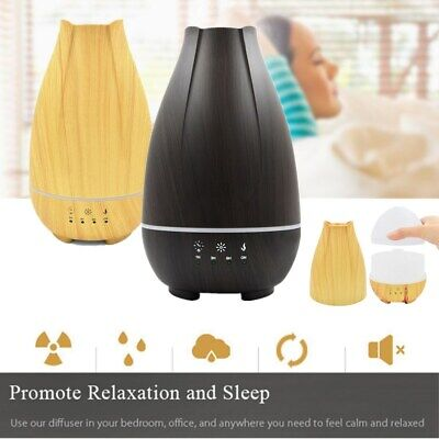 500ML Wood Humidifier LED Air Aroma Essential Oil Diffuser Aromatherapy Atomizer