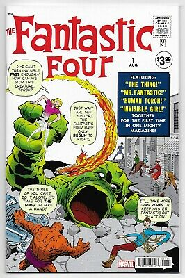 Fantastic Four 1 Facsimile Edition Mr Fantastic Invisible Woman Torch Thing