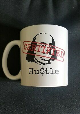 Custom certified Hu$tle coffee mug.