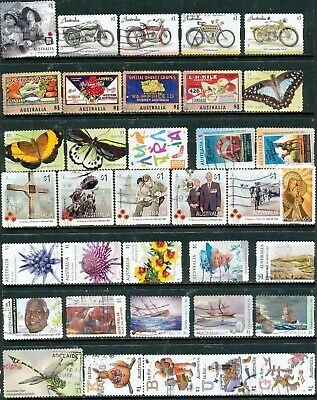 Australian Stamps $1.00 2018/2016 (2 pages) Recent/Sets Used/Bulk