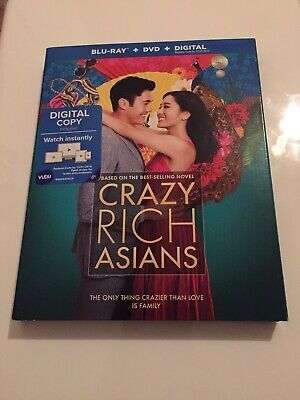 Crazy Rich Asians (Blu-ray/DVD/Digital, 2018) NEW! with Slipcover -FREE SHIPPING