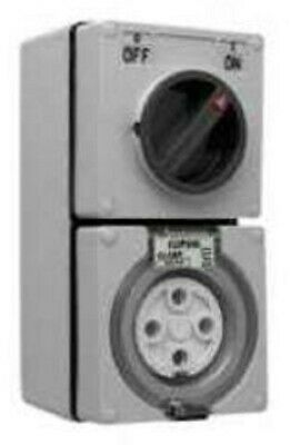 Clipsal SWITCHED SOCKET OUTLET 500V 4-Pins 3-Poles Chemical Grey- 40A Or 50A