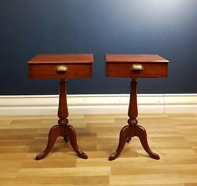 Antique Victorian Cedar Bedside Tables (Pair) Circa 1890 Restored, Ready to Use