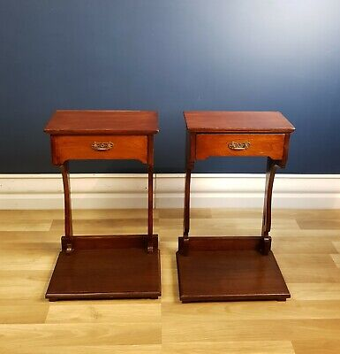 Antique Victorian Cedar Bedside Tables (Pair) Circa 1900 Restored, Ready to Use