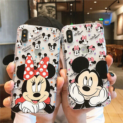Disney Mickey Minnie Soft Clear Case Cover For Iphone 6 6S 8 7 Plus XS Max XR X