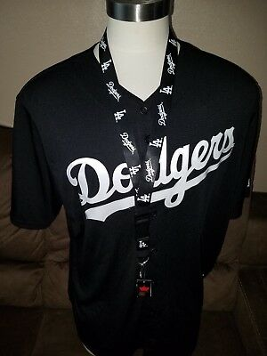 MLB Los Angeles Dodgers Cool Base Black White Baseball Jersey Men s w free  Lynrd e184d177f