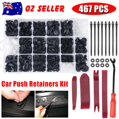 Car Trim Body 467PCS Plastic Clips Kit Door Panel Rivet Retainer Fastener Bumper