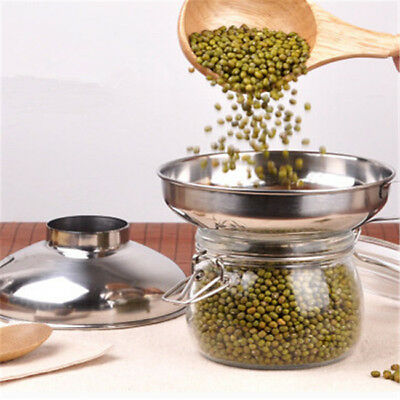 Kitchen Stainless Steel Wide Mouth Canning Food Funnel Hopper Filter Funnel YI