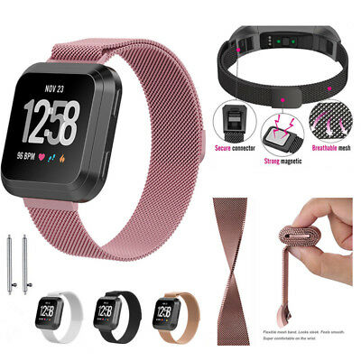 For Fitbit Versa Milanese Replacement Strap Stainless Steel Metal Watch Band CA