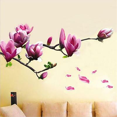 Magnolia Flowers Floral Removable Wall Sticker Mural Art Home Decor Vinyl YI