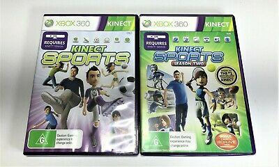 Microsoft Xbox 360 Games   Kinect Sports 1 & 2   Complete Pal