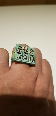 RARE ANCIENT EGYPTIAN EGYPT ANTIQUES RING Talisman STONE Egypt Stone BC