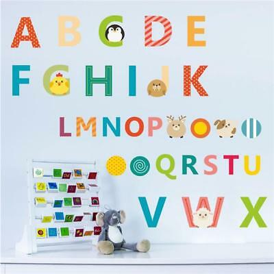Nursery Animal Alphabet Letters Removable Wall Sticker Kid Early Learning Toy YI