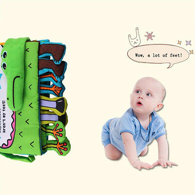 Baby Animal Cloth Book Infant Intelligence Development Toy Soft Cognize Books YI