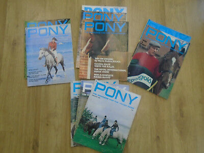 10 x The Pony Magazine for the Young Rider Feb to Oct & Dec 1978