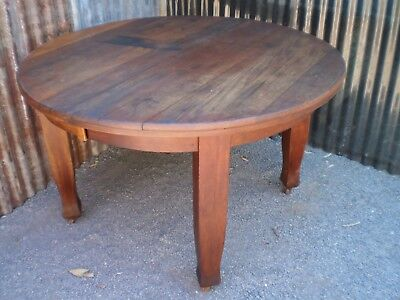 Antique Timber Round Side Table - a project for restoration