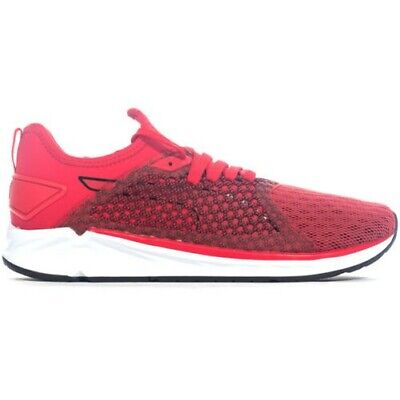 9101ee11db4328 Puma S Enflammer 4 Netfit Hommes Fitness Course Baskets Chaussure Rouge Noir
