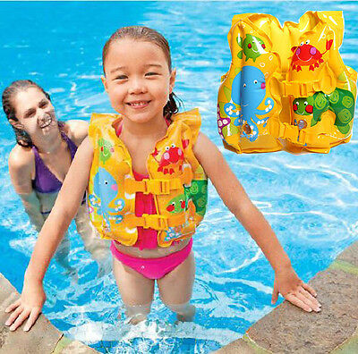 Baby Kids Children Inflatable Beach Swimming Pool Safety Life Jacket Vest Float