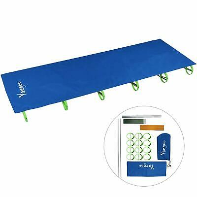 Compact Folding Aluminium Alloy Camping Tent Cot Bed with Carry Bag GREEN