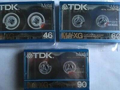 Tdk Ma-Xg Complete Set Factory Sealed Audio Cassettes Japan