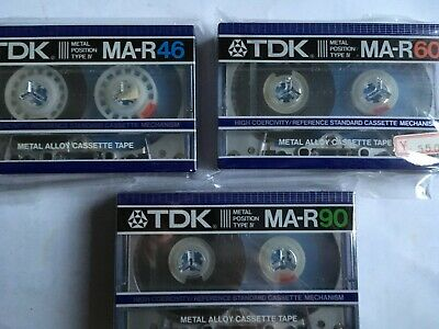 Tdk Ma-R Complete Set Factory Sealed Audio Cassettes Japan