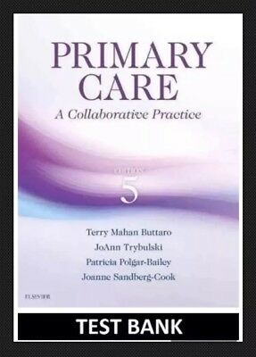 TEST BANK Primary Care : A Collaborative Practice by Buttaro 5th Edition