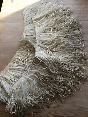 Gorgeous vintage ostrich feather eppualettes