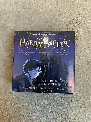 Harry Potter Audiobook CD Box set Pts 1,2,3 25CDs MINT and unopened. Collectable