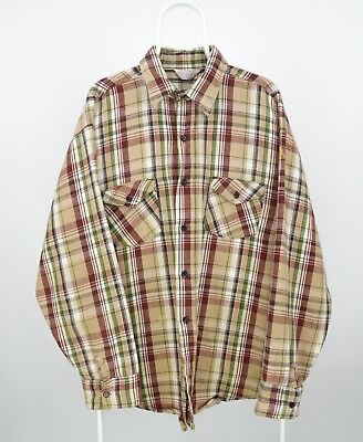 Mens Frostproof Vintage Flannel Shirt Check Plaid USA Made Size XXL / 2XL