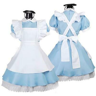 *UK Seller* Adult Alice In Wonderland Costume Fancy Dress Book Day 7 Sizes