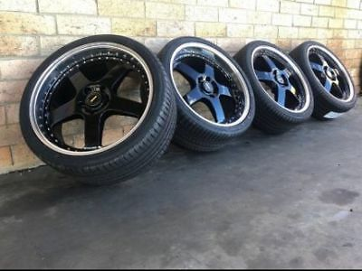SIMMONS FR1 20INCH White Stagerred Wheels And Tyres New Set