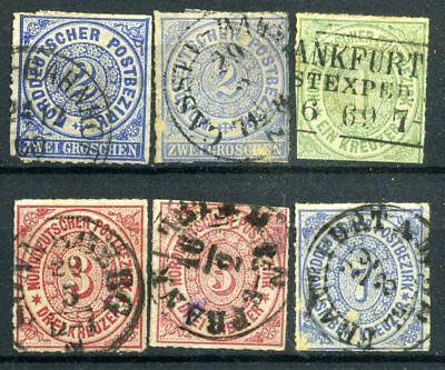 Lot Germany North Confederation 1868 - 1870, used, combine shipping 608