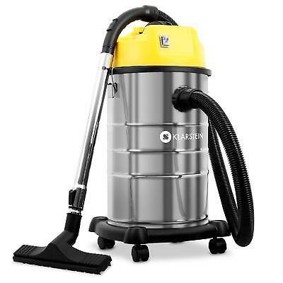 New 1800W Industrial Vacuum Cleaner Wet & Dry Shop Vac 30 Litre Portable Wheels