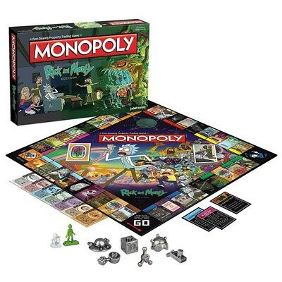 HOT Rick and Morty Monopoly Board Game Collector's Edition Brand New Sealed