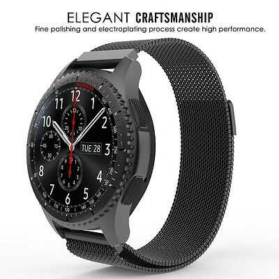 For Samsung Gear Huawei Watch 2 S3 GT 46 Milanese Magnetic Loop Steel Band Strap