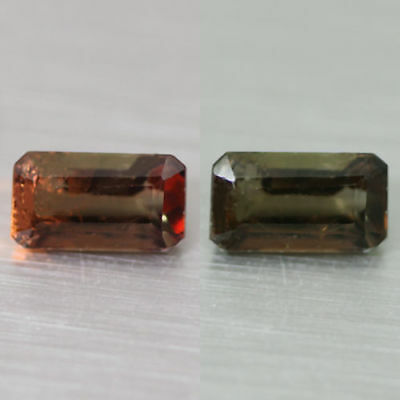 1.16Cts  Unique 100% Natural' Dancing Color Change Axinite Rare Gem Aaa !!!!